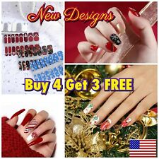 Color Nail Polish Strips Buy 4 Get 3 FREE U.S Seller Christmas Holiday Solid