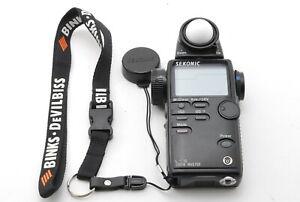 【 Exc+++++ 】 SEKONIC L-508 Zoom Master Digital Light Meter From JAPAN #1130
