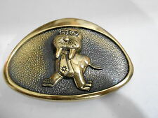 1970s Vintage Belt Buckle #05- 027 - Walrus - Marine Bank