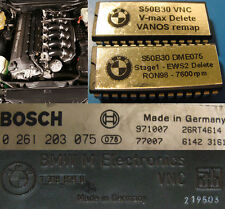 BMW E30 E36 euro M3 3.0 S50B30 +19hp, 7600rpm, v-max & EWS immo delete chips