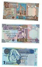 SET SET SERIE 3 Banconote Libia Libia Dinar NUOVA UNC