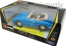 Bburago 1961 Porsche 356B Cabriolet 1:18 Diecast Blue 18-12025