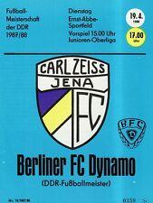 OL 87/88  FC Carl Zeiss Jena - BFC Dynamo Berlin