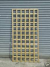 4 x Large square trellis panels 180 x 90 cm rough sawn