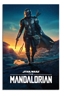 """LAMINATED Star Wars The Mandalorian Nightfall Poster Official Licensed 24x36"""""""