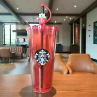 Starbucks Tumbler Red Super large capacity Cute Bear straw Cold Water Cup a#