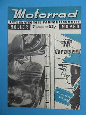 Fachzeitschrift MOTORRAD ROLLER MOPED 7-1957 Maico 175 , Puch Roller