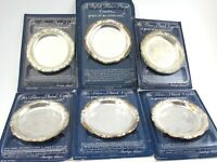 Reader's Digest Silver Plated COASTERS Give-a-Way Special Offer NIB Set 6 Vtg