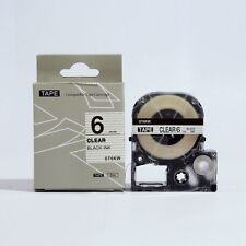 Epson LabelWorks 6mm x 8m Black on Clear Compatible Label Tape LK-2TBN
