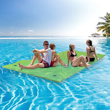 Large 3-Layer Floating Water Pad Water Sports Float Island Utility Mats Relaxing