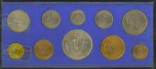 Great Britain 1953 Queen Elizabeth Coronation Coin Set in Custom Holder UNC