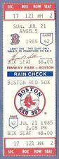 Reggie Jackson HR 519 full season ticket July 21 1985 HOF Angels Boggs