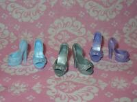 Mattel Barbie Doll SHOES ~ 3 PAIRS HEELS  ~ FASHION FEVER Shoes Accessories Lot