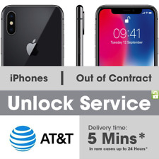 FACTORY UNLOCK SERVICE FOR AT&T IPHONE X 8 8+ 7+ 7 6+ 6 5 CLEAN IMEI FAST