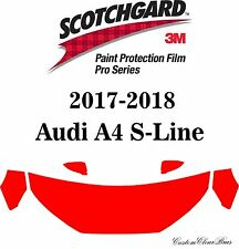 3M Scotchgard Paint Protection Film Pro Series Clear 2017 2018 Audi A4 S-Line
