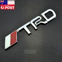 AU TRD Chrome Silver 3D Metal Badge Emblem Sticker Camry 86 Corolla Yaris Rav4