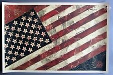 FLAG SIGNED LITHOGRAPH : OBEY : SHEPARD FAIREY : SOLD OUT