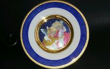 "Beautiful Angels Christmas Scene Multi Color Dufex Art Plate- 6"" D made in JAPAN"
