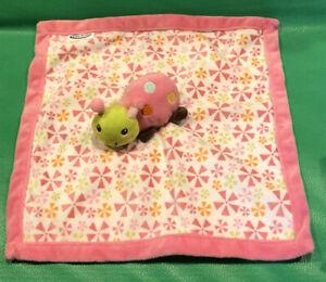 Graco Ladybug Plush Security Blanket Lovey Pink White Baby Toy