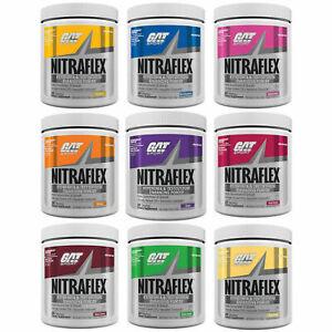 GAT Sports NITRAFLEX Pre-Workout Hyperemia Testo Enhancing 30 Servs, ALL FLAVORS