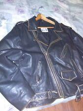 Leather Men's Motorcycle Biker Jacket