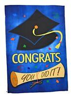 """Graduation Garden Flag, Double Sided, 12"""" x 18"""""""