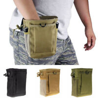 Hunting Hiking Military Molle Belt Tactical Magazine Dump Utility Pouch Bags