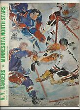 November 3,1968 Minnesota North Stars vs. N.Y. Rangers program ex-nm (see scan)