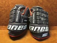 ~ Vintage BAUER ARMOUR FOAM ~ DETROIT VIPERS Game Used Hockey Gloves ~