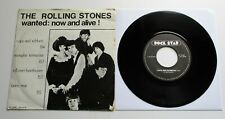 "The Rolling Stones - Wanted: Now And Alive! 1980 Netherlands 7"" EP Single P/S"