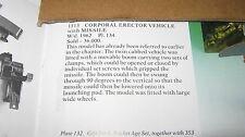 Corgi 1113 Corporal misil Erector Vehículo Todo Original muy bueno como se muestra