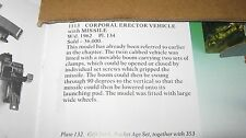 CORGI 1113 MISSILE ERECTOR  VEHICLE ORIGINAL FROM 1959 &  GOODFOR ITS AGE-NO BOX