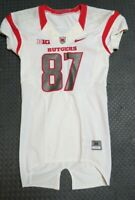 2013 Rutgers Scarlet Knights Game Used Worn White Nike Football Jersey! Big Ten!