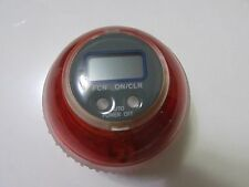 New Gyro Wrist/Arm Ball With LED & Digital Speed Meter Counter Multi Color-Red