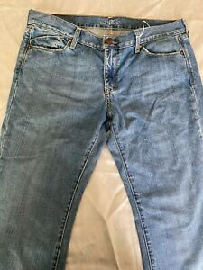 .Women`s Jeans Size 10 Jeans Blue Straight Leg Solid Bootcut