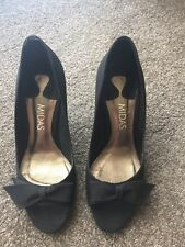 Midas Black Open Toe High Heels - AS NEW - Size 37 - RRP$159