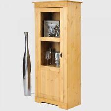 Vitrine Kiefer Massivholz gelaugt Glas Schrank Anrichte Regal 3805344mz