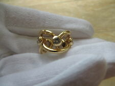 CHANEL Vintage  750 18k Yellow Gold Bezel Diamond Ring Band. Size 5.  RARE!!