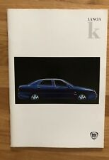 Depliant Lancia K kappa berlina In Italiano Maggio 1996