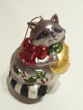 Dillard's Trimmings Vintage Style Glass Ornament Raccoon