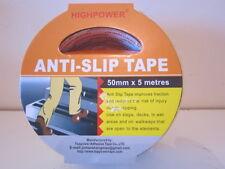 ANTI - SLIP ADHESIVE TAPE. BLACK & YELLOW STRIPPED.  50mm X 5 METERS