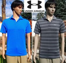 lot UNDER ARMOUR polo shirt collared golf quick dry short sleeve striped mens SM