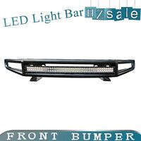 """With 38"""" LED Light Bars Off Road Front Bumper Black For 2015-2018 Ford F-150"""