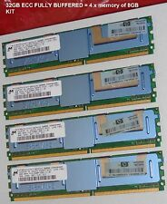32GB (4 * 8GB) RAM PC2-5300F DDR2 667MHZ APPLE MacPro HP PROLIANT DELL PRECISION