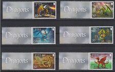 2015 JERSEY DRAGONS MARGINAL SET OF 6 MNH