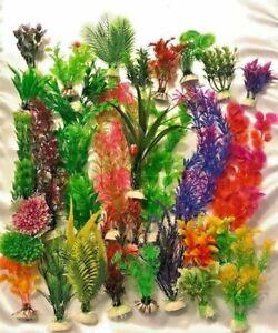 (15 Pack) Artificial Plastic Aquarium plants - Mixed lot