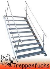 10 Stufen Stahltreppe beidseitig. Geländer Breite 100cm Geschosshöhe 150-200cm
