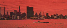 1961's VOYAGE TO THE BOTTOM OF SEA Seaview in NY harbor color 4x10 scene