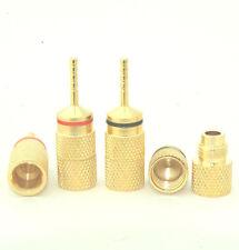 8 Amp Eico Banana Plug Tip Pin Plug Audio Convert Adapter 24K High End E0519 USA