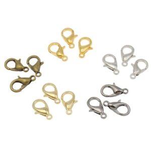 Lobster Clasp Keyring Trigger Clip Key Chain Ring Holder 12mm Hooks Findings UK